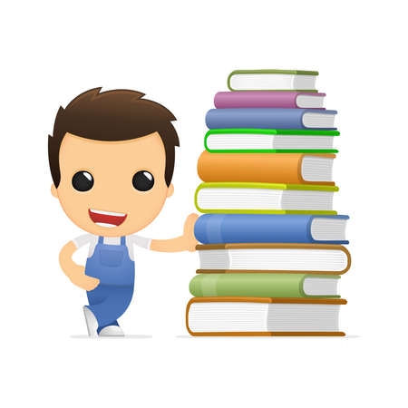 literary characters: funny cartoon mechanic