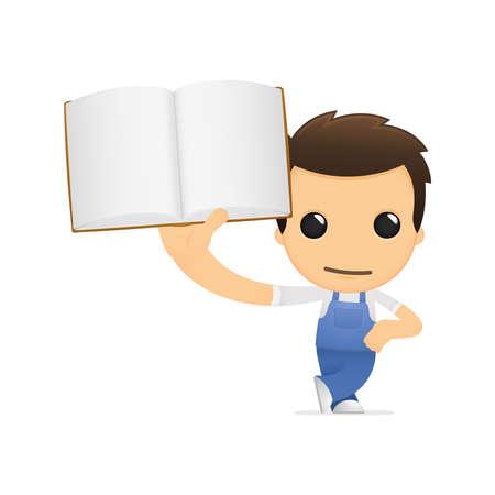 literary man: funny cartoon mechanic