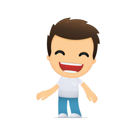 funny cartoon casual man Stock Vector - 13499038