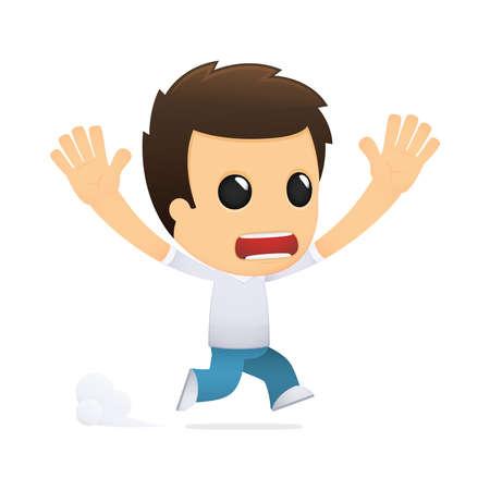 funny cartoon casual man Stock Vector - 13499531