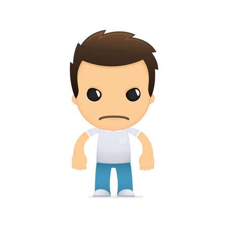 ni�os malos: dibujos animados hombre informal divertida Vectores