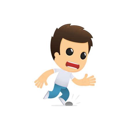 stumble: funny cartoon casual man Illustration