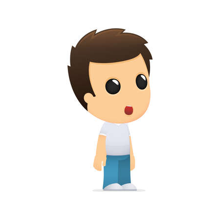 young culture: funny cartoon casual man Illustration