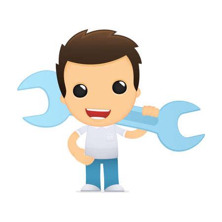 funny cartoon casual man Stock Vector - 13502562