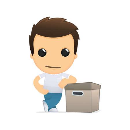 depository: funny cartoon casual man Illustration