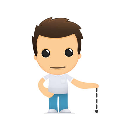 funny cartoon casual man Stock Vector - 13499094