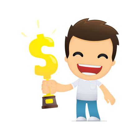 funny cartoon casual man Stock Vector - 13511434