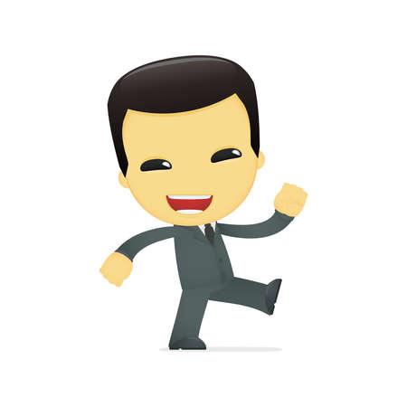 funny cartoon asian businessman Stock Vector - 13690466