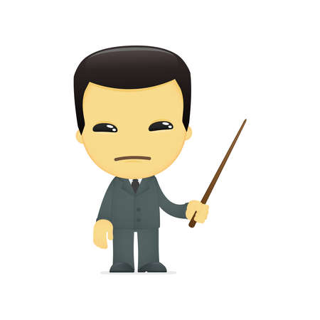 korean culture: funny cartoon asian businessman
