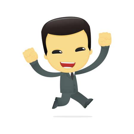 funny cartoon asian businessman Stock Vector - 13690510