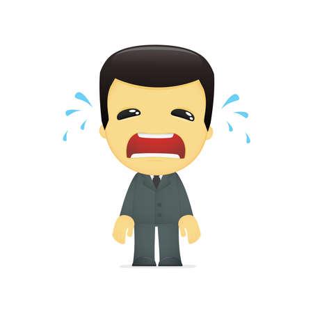 funny cartoon asian businessman Stock Vector - 13690431