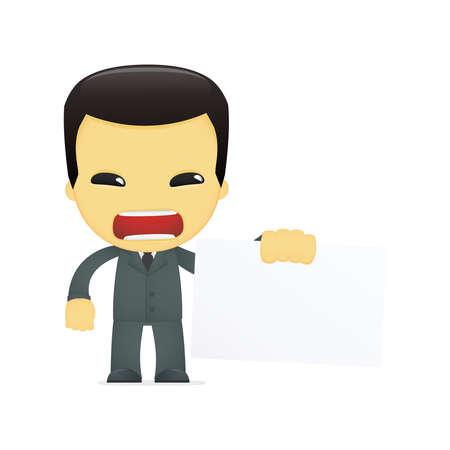 funny cartoon asian businessman Stock Vector - 13690525