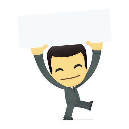 funny cartoon asian businessman Stock Vector - 13690360