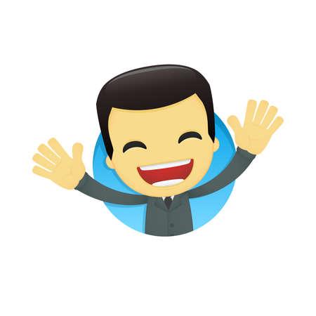 funny cartoon asian businessman Stock Vector - 13690408