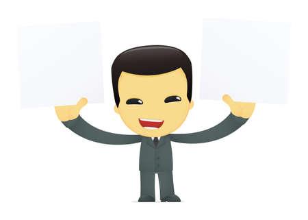 funny cartoon asian businessman Stock Vector - 13690468