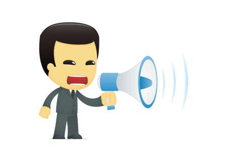 funny cartoon asian businessman Stock Vector - 13690565