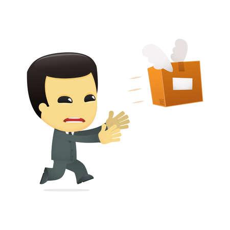 funny cartoon asian businessman Stock Vector - 13690727