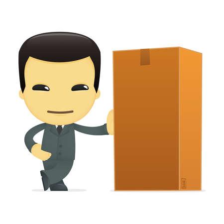 funny cartoon asian businessman Stock Vector - 13690734