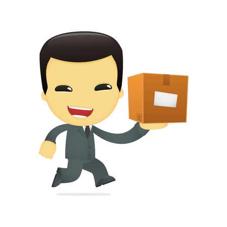 funny cartoon asian businessman Stock Vector - 13690527