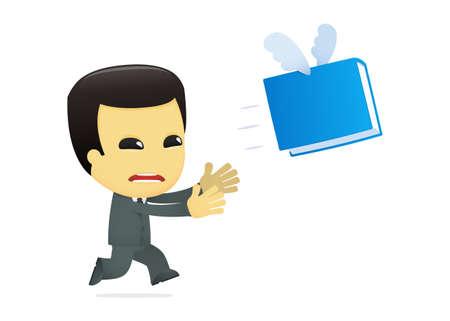 funny cartoon asian businessman Stock Vector - 13690924