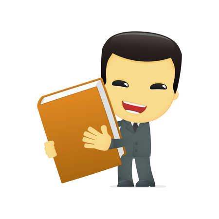 data dictionary: funny cartoon asian businessman