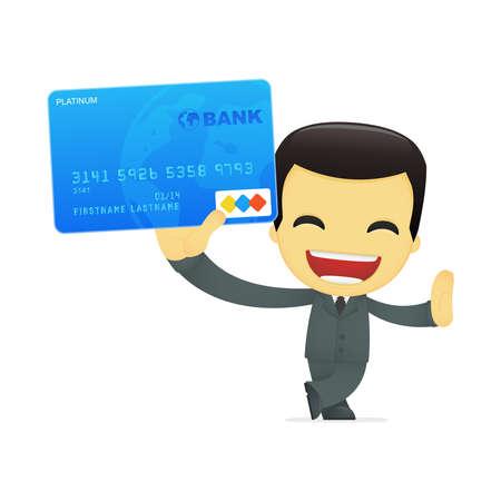 funny cartoon asian businessman Stock Vector - 13693330
