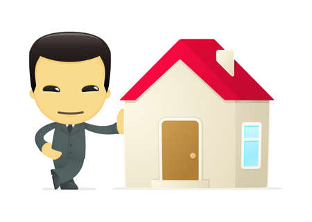 property of china: funny cartoon asian businessman