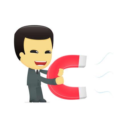 lodestone: funny cartoon asian businessman