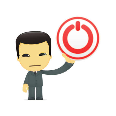 funny cartoon asian businessman Stock Vector - 13690528