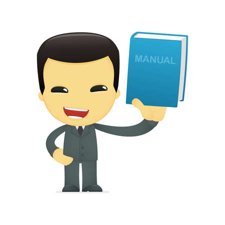 funny cartoon asian businessman Stock Vector - 13691276