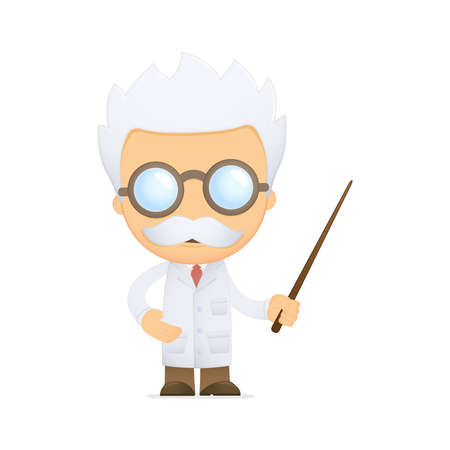 profesor: científico de divertidos dibujos animados