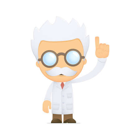 funny cartoon scientist Stock Vector - 13690941