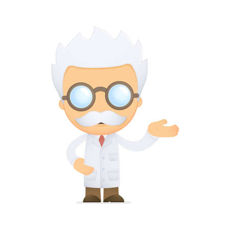 mathematician: funny cartoon scientist Illustration