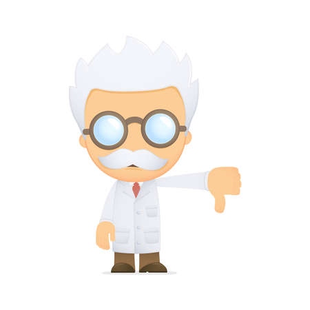 cientificos: cient�fico de divertidos dibujos animados