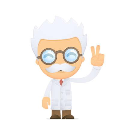 inventor: funny cartoon scientist Illustration