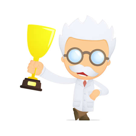 funny cartoon scientist Stock Vector - 13692763