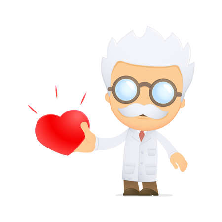 funny cartoon scientist Stock Vector - 13691236