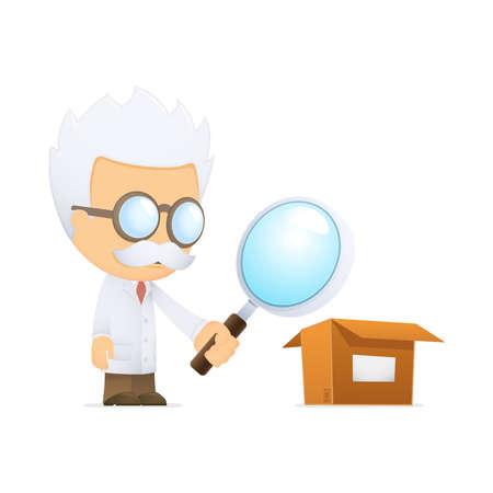 depository: funny cartoon scientist Illustration