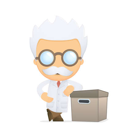funny cartoon scientist Stock Vector - 13692633