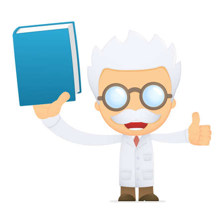 funny cartoon scientist Stock Vector - 13692773