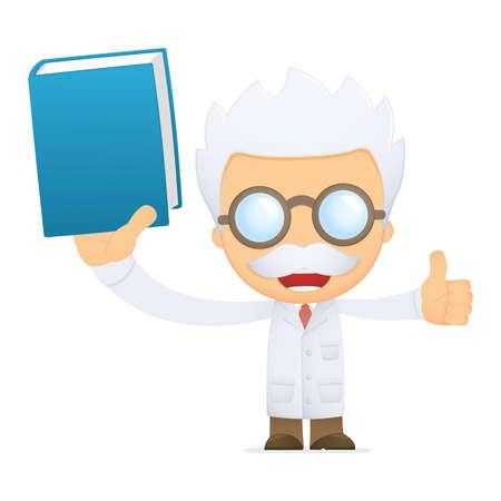 funny cartoon scientist Stock Vector - 13692773