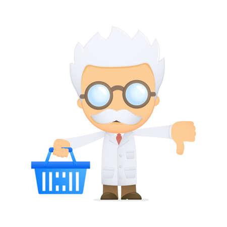 funny cartoon scientist Stock Vector - 13692622