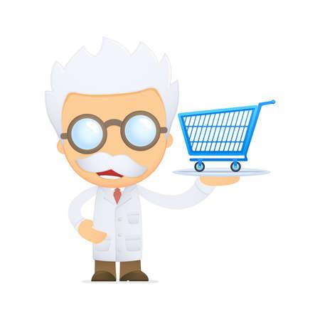 funny cartoon scientist Stock Vector - 13692905