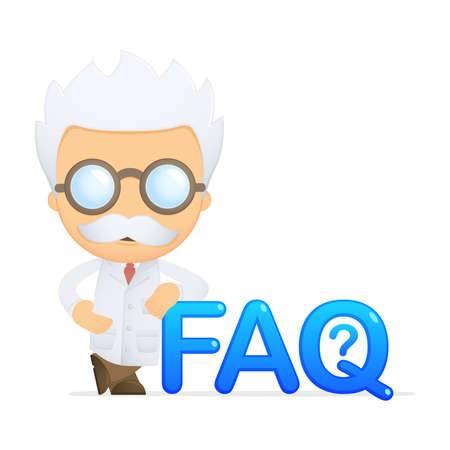 funny cartoon scientist Stock Vector - 13692669
