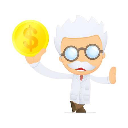 funny cartoon scientist Stock Vector - 13693069