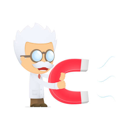 funny cartoon scientist Stock Vector - 13692659
