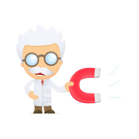 funny cartoon scientist Stock Vector - 13692684