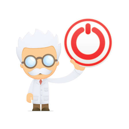funny cartoon scientist Stock Vector - 13691241
