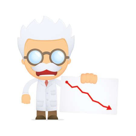 funny cartoon scientist Stock Vector - 13691286