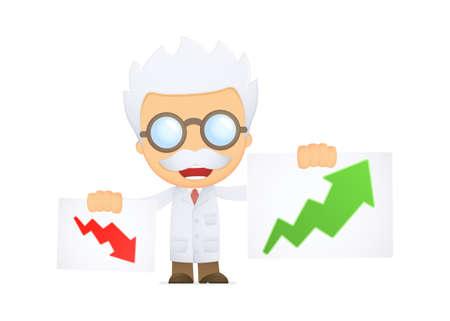 funny cartoon scientist Illustration